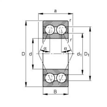 angular contact thrust bearings 30/8-B-TVH FAG