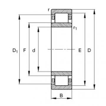 Cylindrical Roller Bearings Distributior NU1014-M1 FAG