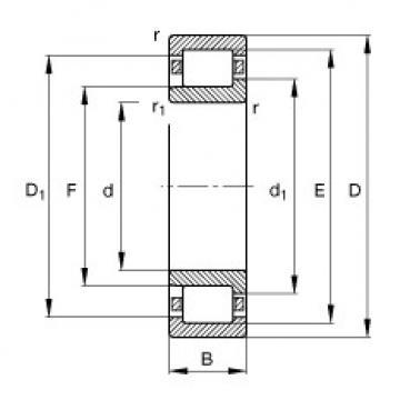 Cylindrical Bearing NJ340-E-TB-M1 FAG