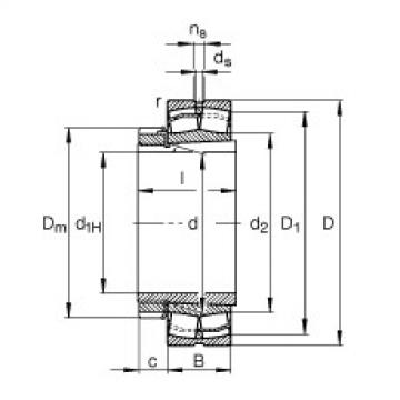 Spherical Roller Bearings 22318-E1-K-T41A + H2318 FAG