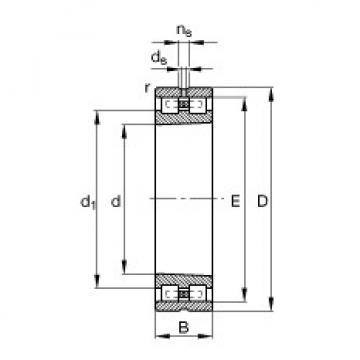 Cylindrical Bearing NN3080-AS-K-M-SP FAG