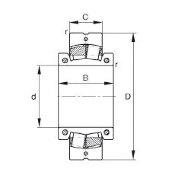 Spherical Roller Bearings 222SM220-MA FAG