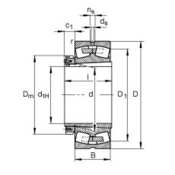 Spherical Roller Bearings 22260-K-MB + H3160 FAG