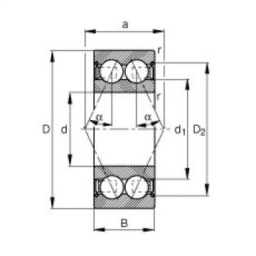 angular contact thrust bearings 3004-B-2Z-TVH FAG