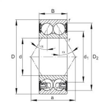 angular contact thrust bearings 3311-BD-2HRS-TVH FAG