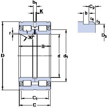 Cylindrical Bearing NNF 5036 ADA-2LSV SKF
