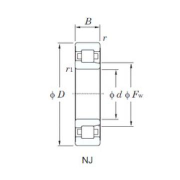 Cylindrical Bearing NJ406 KOYO