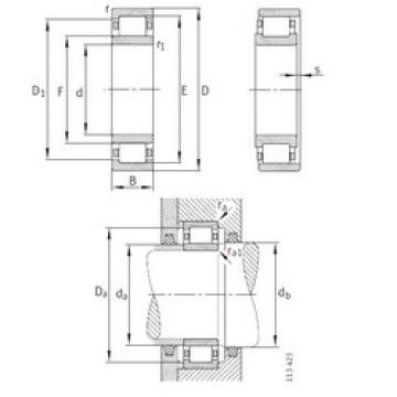 Cylindrical Roller Bearings Distributior NU1096-M1 FAG