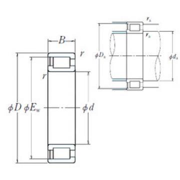 Cylindrical Bearing NCF3080AV NSK