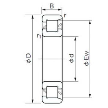 Cylindrical Bearing NF 308 NACHI