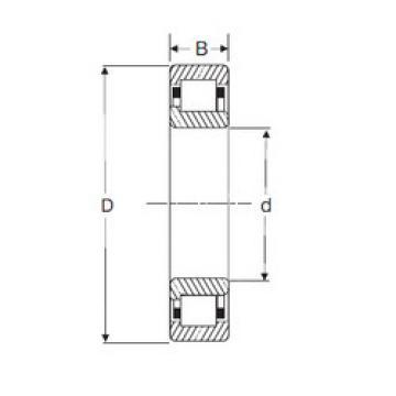 Cylindrical Bearing NJ 208 SIGMA
