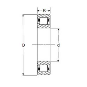 Cylindrical Bearing NJ 2307 SIGMA