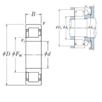 Cylindrical Bearing NJ 206 EW NSK
