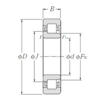 Cylindrical Bearing NJ1080 NTN