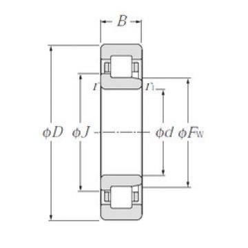 Cylindrical Bearing NJ312E NTN