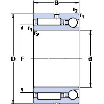 Cylindrical Bearing NKIA 5908 SKF