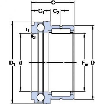 Cylindrical Bearing NKX 70 SKF