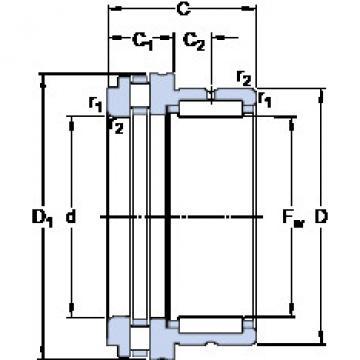 Cylindrical Bearing NKXR 50 SKF