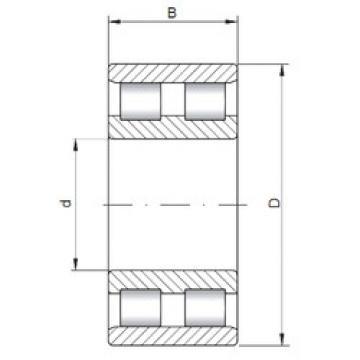 Cylindrical Bearing NN3176 ISO