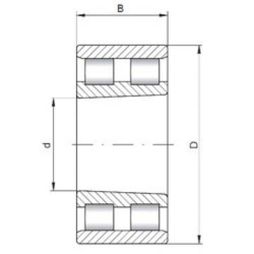 Cylindrical Bearing NN3176 K ISO