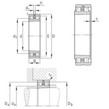 Cylindrical Bearing NN3014-AS-K-M-SP INA