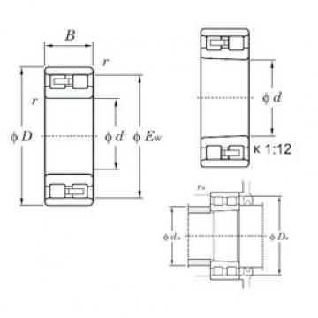 Cylindrical Bearing NN3017 KOYO