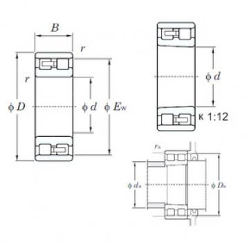 Cylindrical Bearing NN3017K KOYO