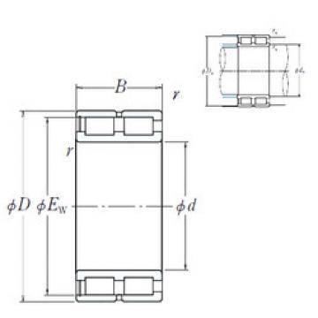Cylindrical Bearing NNCF49/500V NSK