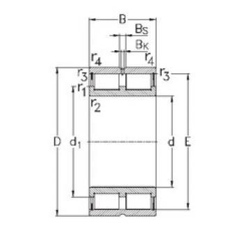 Cylindrical Bearing NNCL4872-V NKE