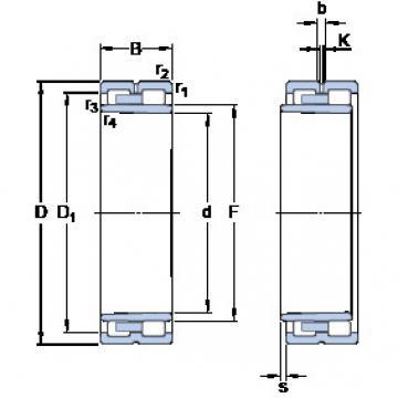 Cylindrical Roller Bearings Distributior NNU 4944 BK/SPW33 SKF