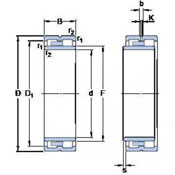 Cylindrical Roller Bearings Distributior NNU 4960 B/SPW33 SKF