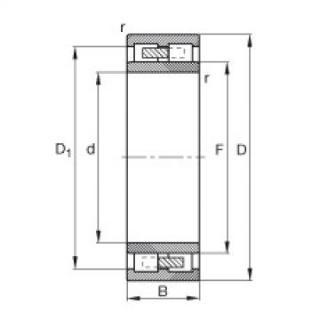 Cylindrical Roller Bearings Distributior NNU4134-M FAG