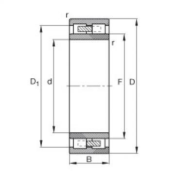 Cylindrical Roller Bearings Distributior NNU4168-M FAG