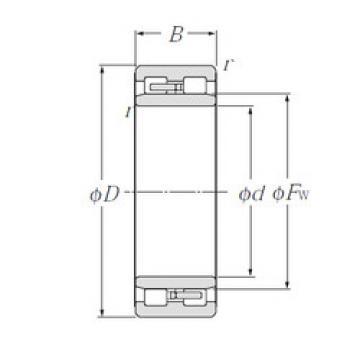 Cylindrical Roller Bearings Distributior NNU4968 NTN