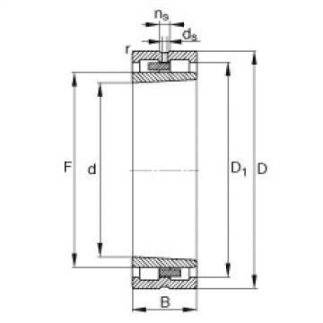 Cylindrical Roller Bearings Distributior NNU4964-S-K-M-SP FAG