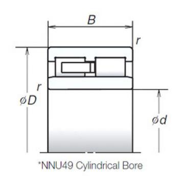 Cylindrical Roller Bearings Distributior NNU4938MB NSK