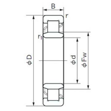Cylindrical Roller Bearings Distributior NU 222 E NACHI