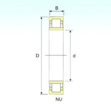 Cylindrical Roller Bearings Distributior NU 1016 ISB