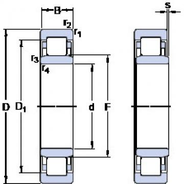Cylindrical Roller Bearings Distributior NU 1014 ECP/C3VL0241 SKF