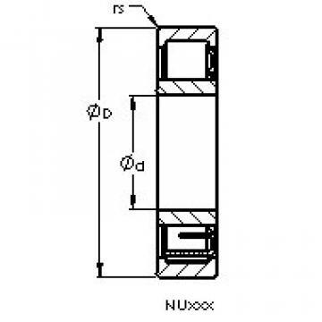 Cylindrical Roller Bearings Distributior NU1012 EM AST