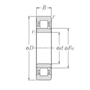 Cylindrical Roller Bearings Distributior NU1008 NTN