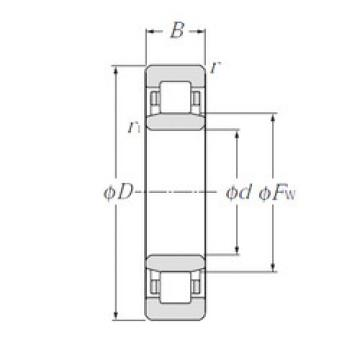 Cylindrical Roller Bearings Distributior NU222 NTN