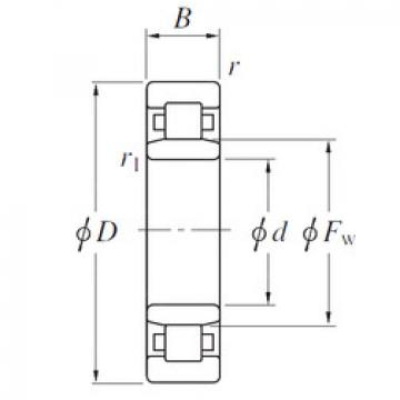 Cylindrical Roller Bearings Distributior NU19/850 KOYO