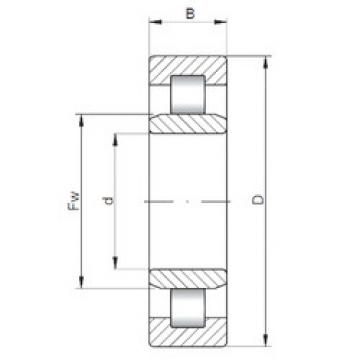 Cylindrical Roller Bearings Distributior NU1988 ISO