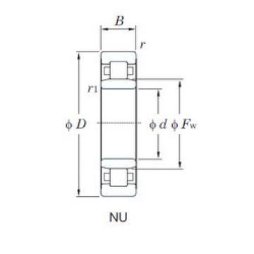 Cylindrical Roller Bearings Distributior NU1017 KOYO