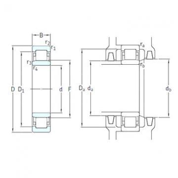 Cylindrical Roller Bearings Distributior NU1008ML/HC5C3 SKF