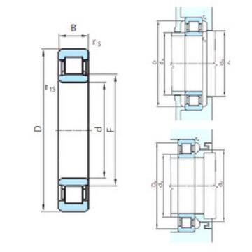 Cylindrical Roller Bearings Distributior NU1076 PSL