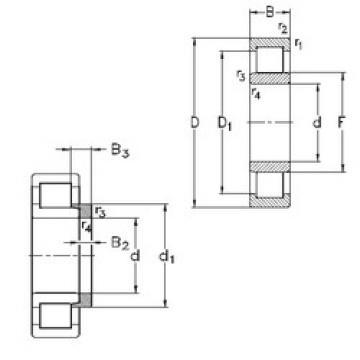 Cylindrical Roller Bearings Distributior NU1068-MA6+HJ1068 NKE