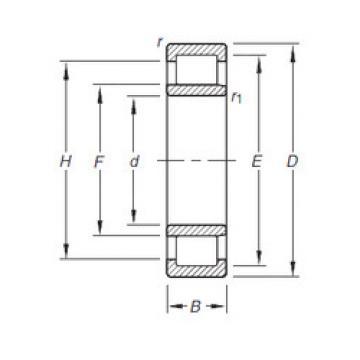 Cylindrical Roller Bearings Distributior NU2210E.TVP Timken