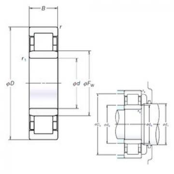 Cylindrical Roller Bearings Distributior NU209EM NSK